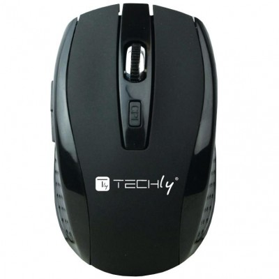 Kit Standard Keyboard and Mouse Wireless 2.4GHz Black - Techly - ICTWC001-3