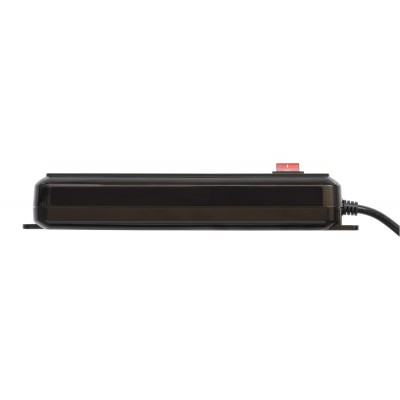 Bypass Power Strip 4 Italian Places with Switch Black - Techly - IUPS-PCP-4BK-4