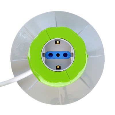 Table Desk Smart Power Strip 5-ports USB Green - Techly - IUPS-PCP-JAR-6