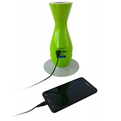 Table Desk Smart Power Strip 5-ports USB Green - Techly - IUPS-PCP-JAR-5