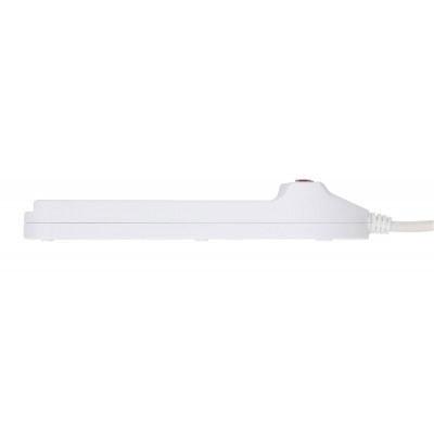 Power Strip 6 Italian 10A with Bright Switch, White - Techly - IUPS-PCP-610-6