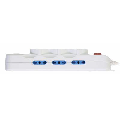 Multisocket with 9 italian sockets 10/16A + 3 Schuko and 2 USB Ports - Techly - IUPS-PCP-6I3SU-5