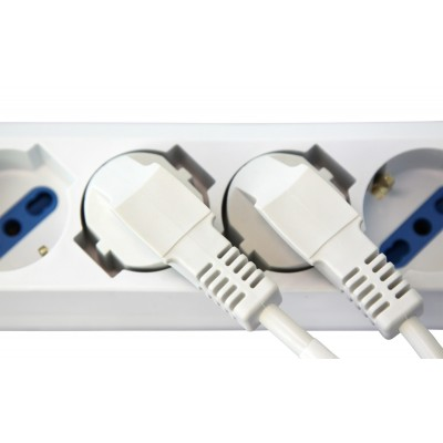 Multi-socket 6 sockets Dual-Size with overload protection White - Techly - IUPS-PCP-16BKP-5