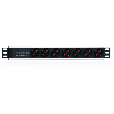 "Rack 19"" PDU 7 Outputs with Protection - Techly Professional - I-CASE STRIP-17P-1"