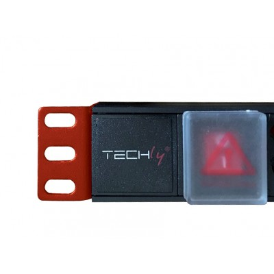 """Rack 19"""" PDU 8 outputs with C14 plug and Switch 1HE - Techly Professional - I-CASE STRIP-81V-3"""