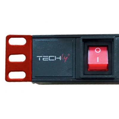 """Rack 19"""" PDU 8 outputs with switch 1HE - Techly Professional - I-CASE STRIP-81U-5"""