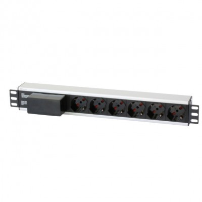 """Rack 19"""" PDU with 6 outputs Circuit Breaker 3m Cable - Techly Professional - I-CASE STRIP-16A3-0"""