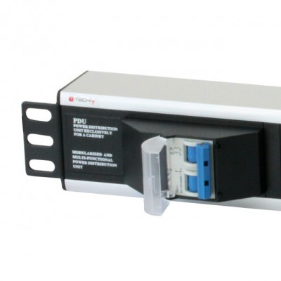 """Rack 19"""" PDU with 6 outputs Circuit Breaker 3m Cable - Techly Professional - I-CASE STRIP-16A3-3"""
