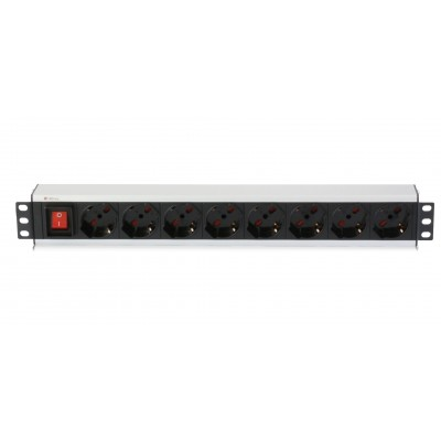 "Rack 19"" PDU 8 outputs  with switch - Techly Professional - I-CASE STRIP-18A-0"