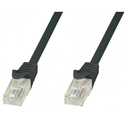 Network Patch Cable in CCA UTP Black Cat.6 20m - Techly Professional - ICOC CCA6U-200-BKT-0
