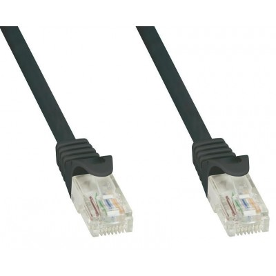 Network Patch Cable in CCA Cat.5E UTP 20m Black - Techly Professional - ICOC CCA5U-200-BKT-2