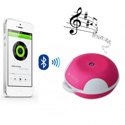 Portable Bluetooth Speaker Wireless Sport MicroSD Pink - Techly - ICASBL03-2
