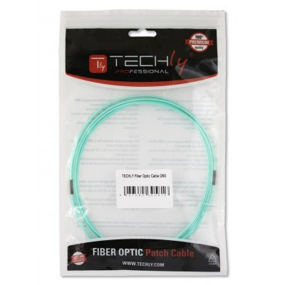 LC/LC Multimode 50/125 OM3 3m Fiber Optics Cable - Techly Professional - ILWL D5-LCLC-030/OM3-1