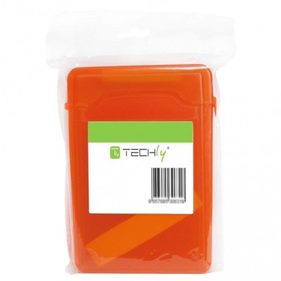 "Box for 1 HDD protection 3.5"" Transparent Orange - Techly - ICA-HD 35OR-1"