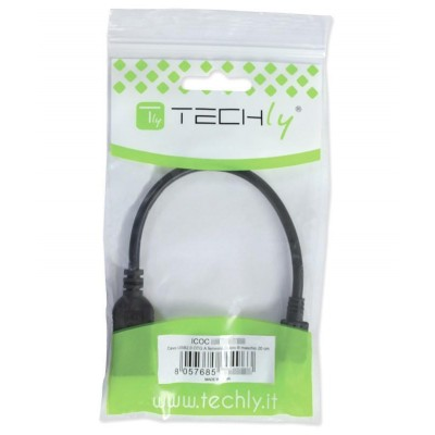 USB OTG Cable Micro B / A with Micro SD / SDHC Player 26cm Black - Techly - ICOC U2OTG-SD-1