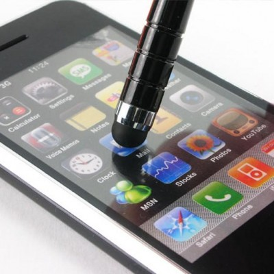 Capacitive Stylus Pen with Clip for Smartphone and Tablet 8 mm - Techly - ICA-TBL P1-2