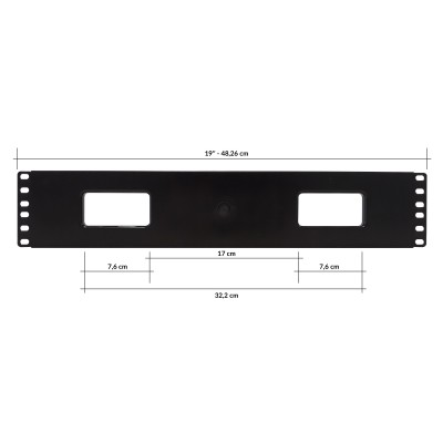 """Cable Entry Panel 19"""" 2U with Cover - Techly Professional - I-CASE CABLE-FR2-3"""
