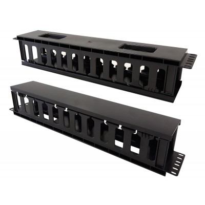 """Cable Entry Panel 19"""" 2U with Cover - Techly Professional - I-CASE CABLE-FR2-1"""