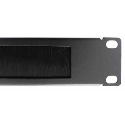 Cable Entry Perforated Panel 1U with Brush Black - Techly Professional - I-CASE PSC-NETY-1