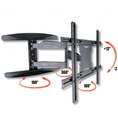 "40-65"" Ultra Slim Full Motion LCD TV Wall Mount Bracket Black - Techly - ICA-PLB 171L-3"