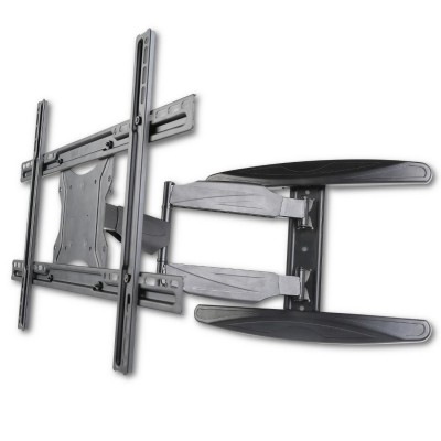 "40-65"" Ultra Slim Full Motion LCD TV Wall Mount Bracket Black - Techly - ICA-PLB 171L-7"