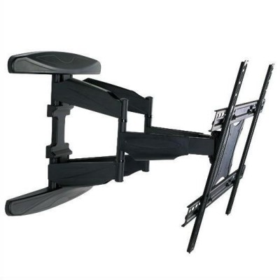 "40-80"" Ultra Slim Full Motion LCD TV Wall Mount Bracket Black - Techly - ICA-PLB 172L-1"