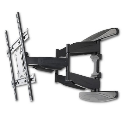 "40-80"" Ultra Slim Full Motion LCD TV Wall Mount Bracket Black - Techly - ICA-PLB 172L-8"