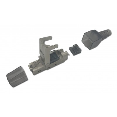 STP Cat.6A RJ45 Modular Plug Toolless - Techly Professional - IWP-8P8C-CAT6AS-2