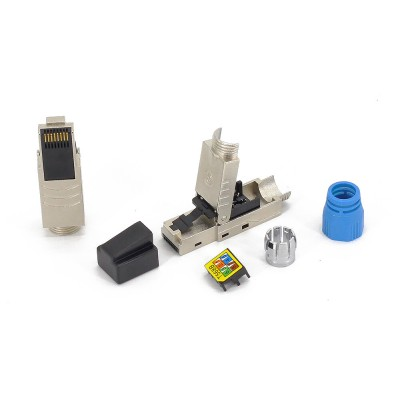 Plug RJ45 Cat.8.1 Shielded STP EconLine - Techly Professional - IWP-8P8C-CAT81STY-4