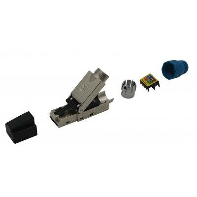 Plug RJ45 Cat.8.1 Shielded STP EconLine - Techly Professional - IWP-8P8C-CAT81STY-2