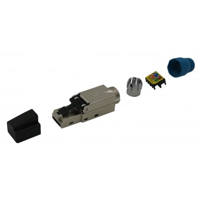 Plug RJ45 Cat.8.1 Shielded STP EconLine - Techly Professional - IWP-8P8C-CAT81STY-1