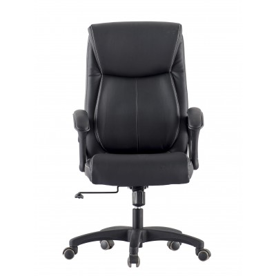 Upholstered Executive Armchair with Armrests Black - Techly - ICA-CT 091BK-1