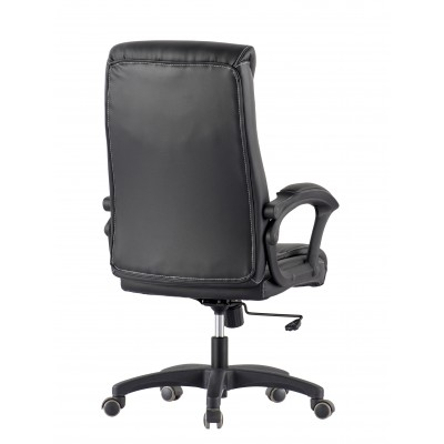 Upholstered Executive Armchair with Armrests Black - Techly - ICA-CT 091BK-4