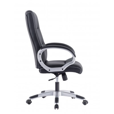 Directional Chair with Padded Armrests Black - Techly - ICA-CT 899-2