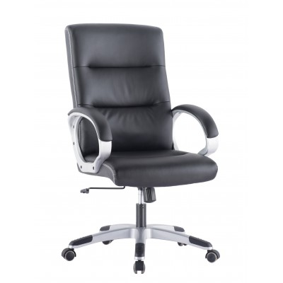 Directional Chair with Padded Armrests Black - Techly - ICA-CT 899-1