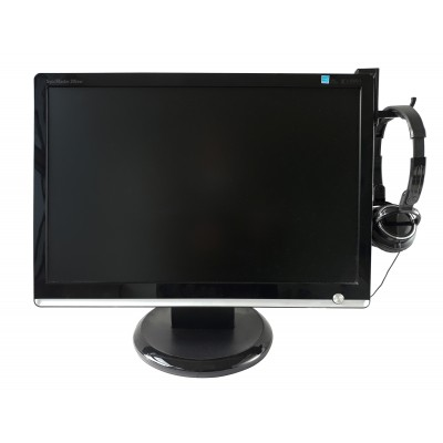 Universal Adhesive Headphone Holder for Monitor and Desk Black (2 Pcs) - Techly - ICC SH-HANGTY-5