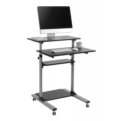 Compact Height-Adjustment Mobile Cart - Techly - ICA-TB TPM-3-2