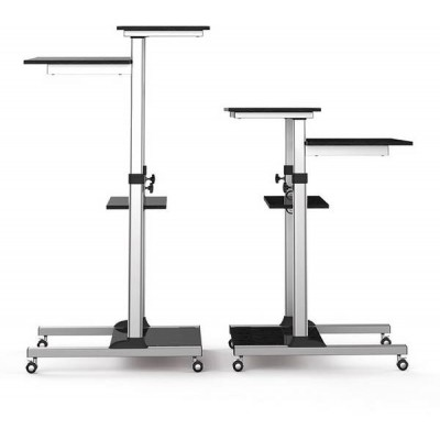 Compact Height-Adjustment Mobile Cart - Techly - ICA-TB TPM-3-6