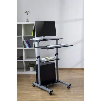 Compact Height-Adjustment Mobile Cart - Techly - ICA-TB TPM-3-14