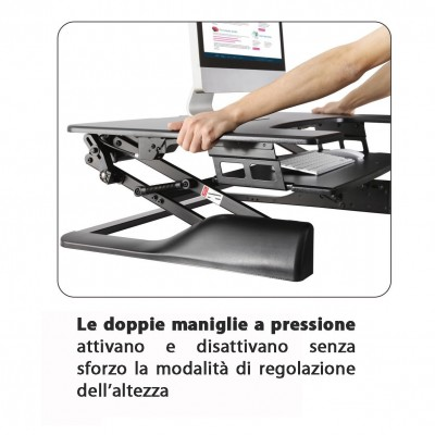 Sit-Stand Desktop Workstation Stand - Techly - ICA-LCD 300-7