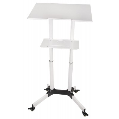 Mobile Workstation White  - Techly - ICA-TB TPM-1WH-2