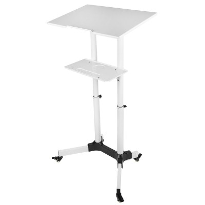 Mobile Workstation White  - Techly - ICA-TB TPM-1WH-5