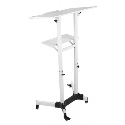 Mobile Workstation White  - Techly - ICA-TB TPM-1WH-4