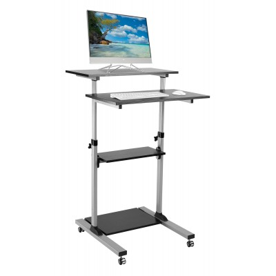 Compact Height-Adjustment Mobile Cart - Techly - ICA-TB TPM-3-1