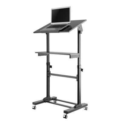 Workstation Notebook Stand with Adjustable Height Shelf - Techly - ICA-TB TPM-4-2