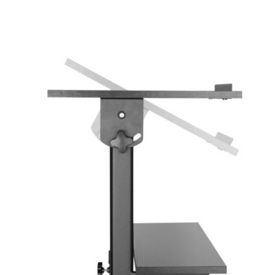 Workstation Notebook Stand with Adjustable Height Shelf - Techly - ICA-TB TPM-4-4