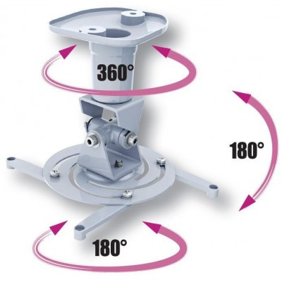 Universal Ceiling Bracket for Projector, White - Techly - ICA-PM 100WH-4