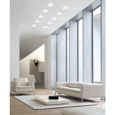 LED Panel 15 x 15 cm 12W Warm White Light - Techly - I-LED-PAN-12W-WWS-6