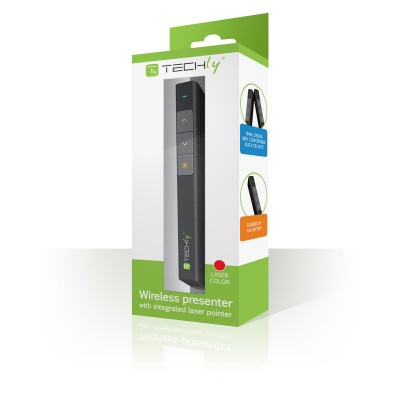 Wireless presenter with integrated laser pointer   - Techly - ITC-LASER26-1