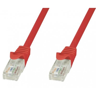 Network Patch Cable in CCA Red Cat.6 UTP 20m - Techly Professional - ICOC CCA6U-200-RET-1